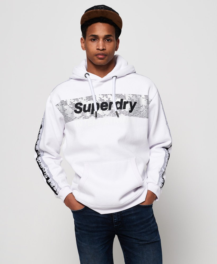 Superdry International Monochrome Oversized Hoodie  thumbnail 1