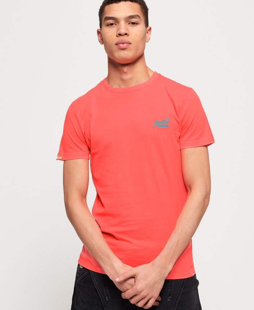 Superdry T-shirt Neon Orange Label  thumbnail 1