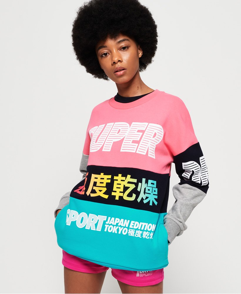 Superdry Japan Edition sweatshirt met ronde hals thumbnail 1