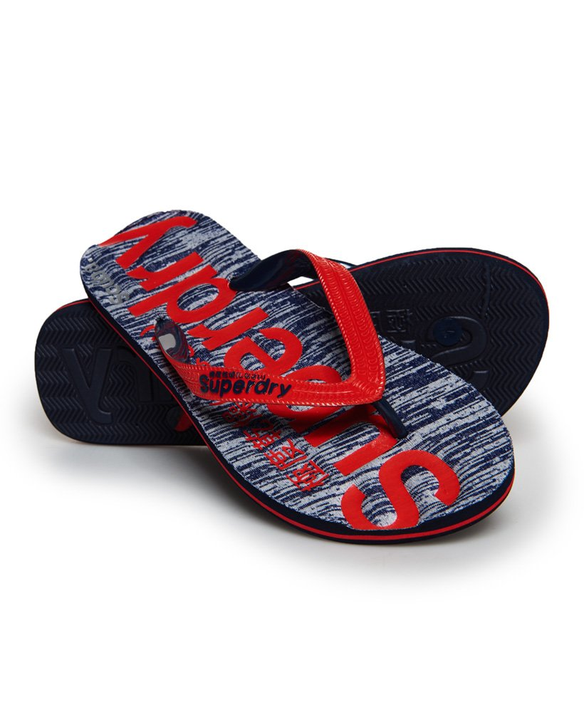 e0c2d0000b73 Womens - Scuba Grit Flip Flops in Red eclipse Navy