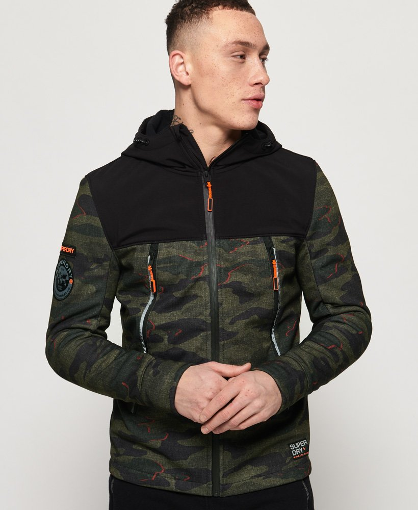 Superdry Softshell Camo Hybrid Jacket  thumbnail 1