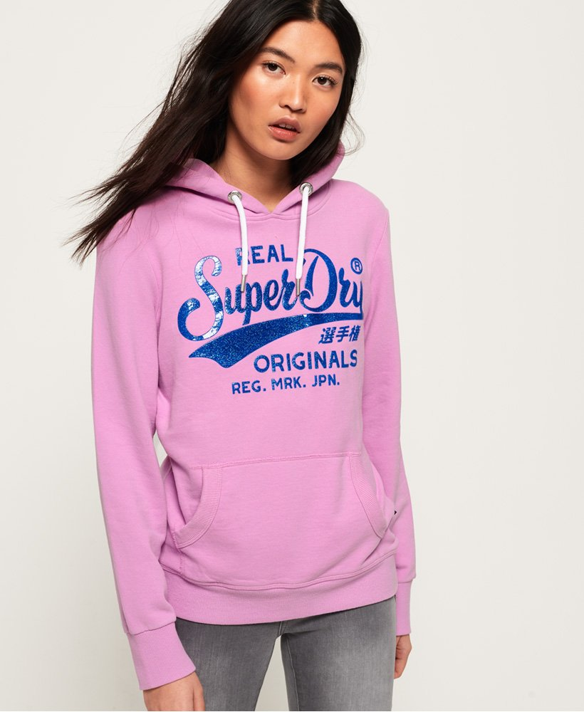 Superdry Real Originals High Build Crackle Hoodie thumbnail 1