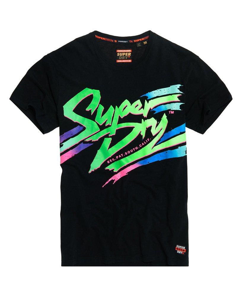 T shirt semi épais oversized à logo Acid Graphic Superdry