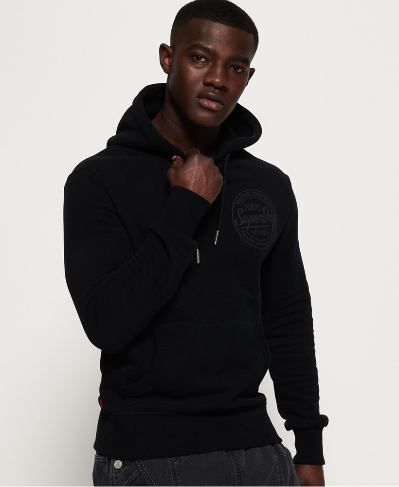 Superdry Ticket Type Mono Hoodie