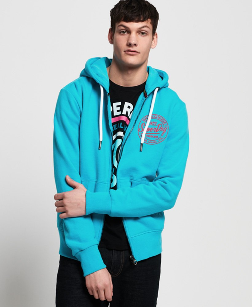 Superdry Gilet à capuche zippé Ticket Type Sweats à