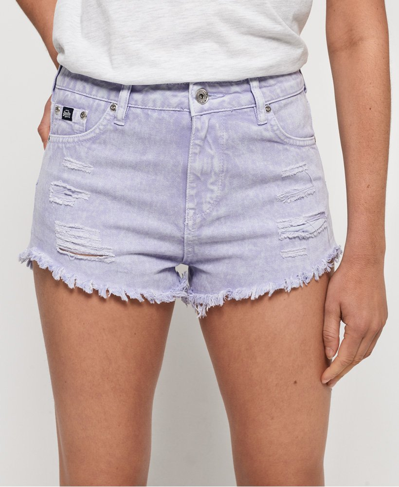 Superdry Eliza Cut Off Denim Shorts thumbnail 1