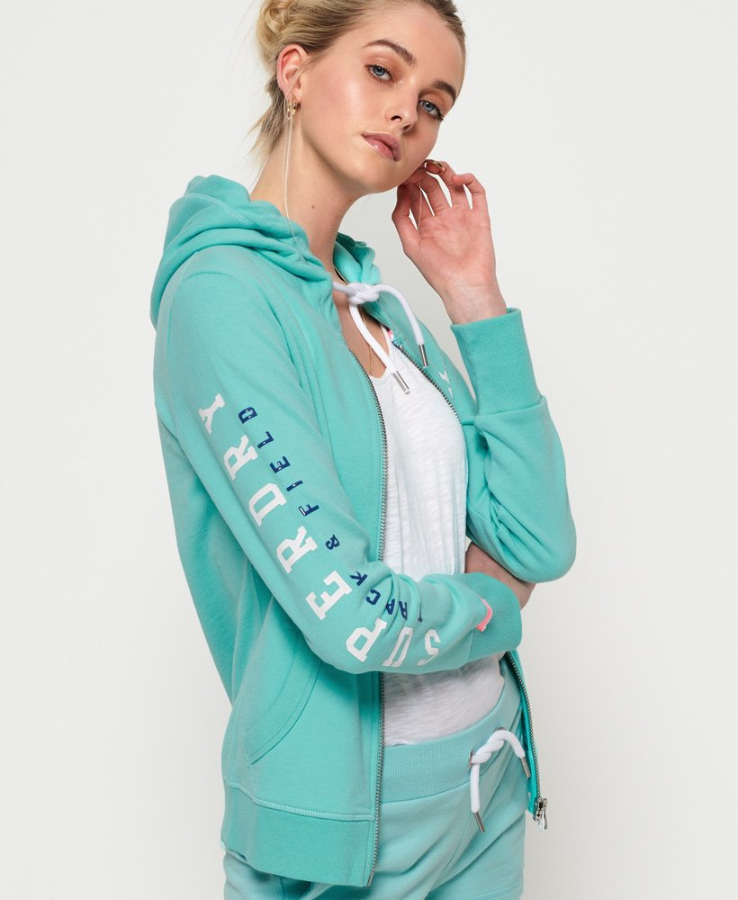 Superdry Sweat à capuche zippé léger Track and Field