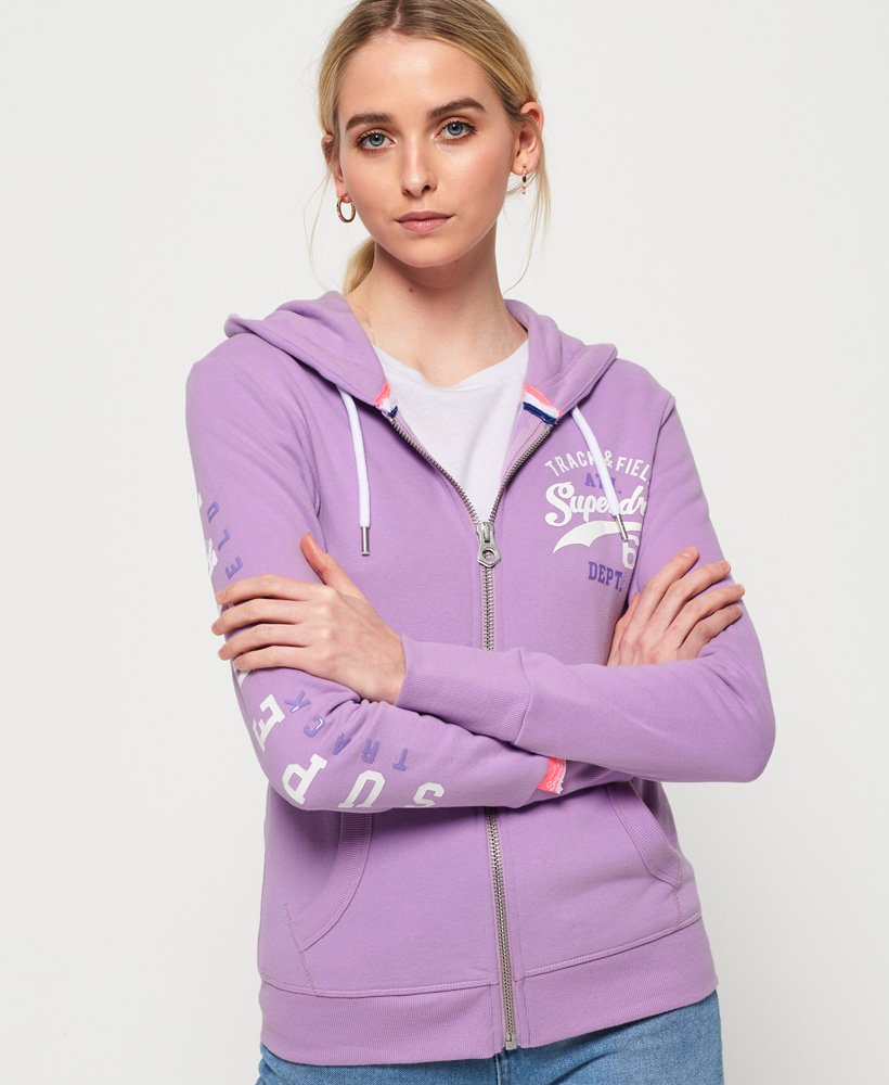 Superdry Track And Field Lightweight Zip Hoodie thumbnail 1