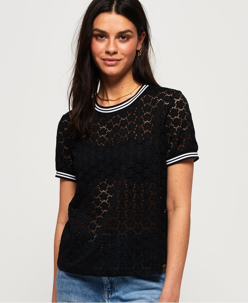 Superdry Ayesha Lace T-shirt thumbnail 1