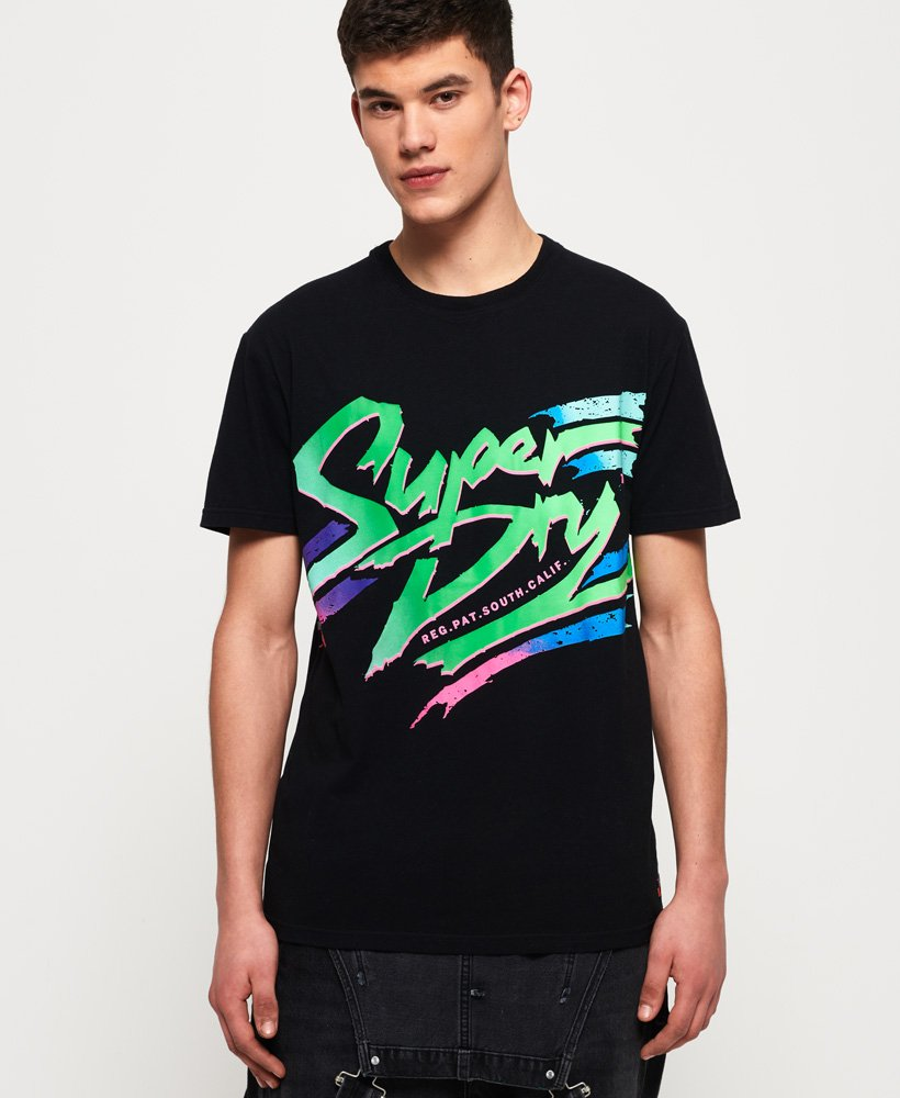 Superdry T-shirt semi-épais oversize à logo Acid Graphic thumbnail 1