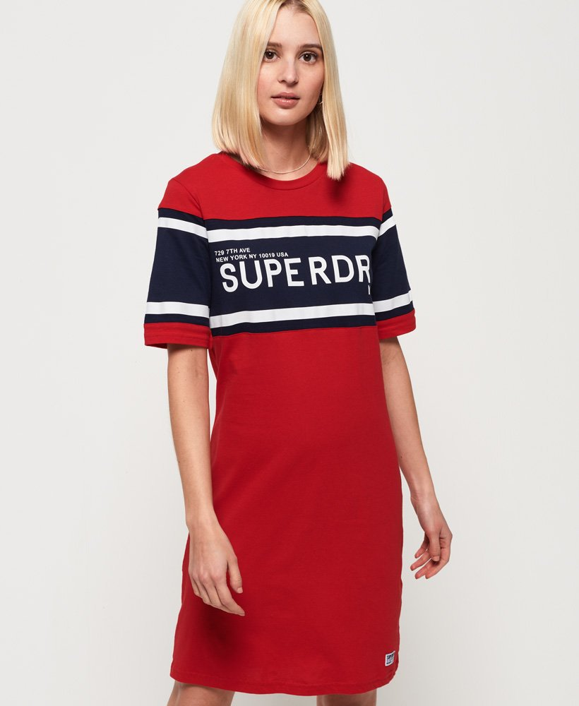 Superdry Colour Block T-Shirt Dress thumbnail 1