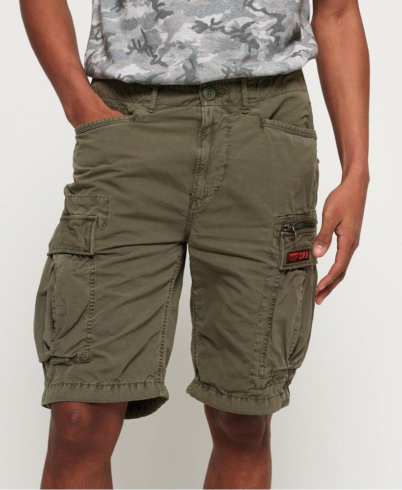 66838d5966340c Mens - Parachute Cargo Shorts in Sage Ripstop | Superdry