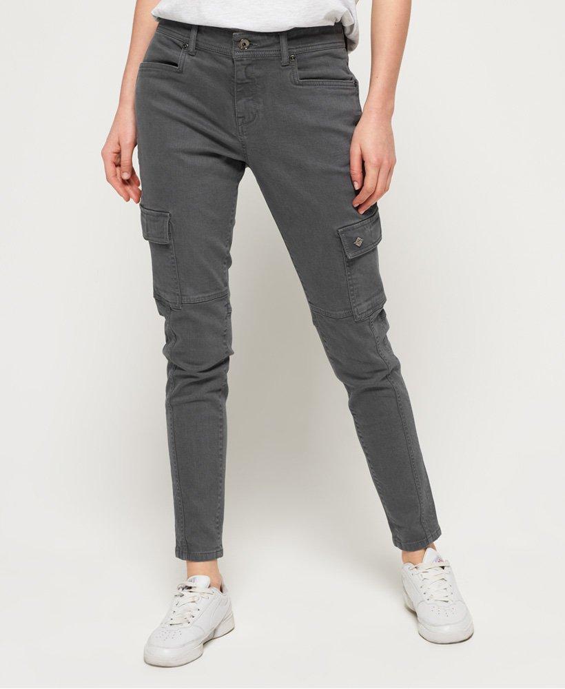 superdry pantalon skinny cargo daisey femme pantalons. Black Bedroom Furniture Sets. Home Design Ideas