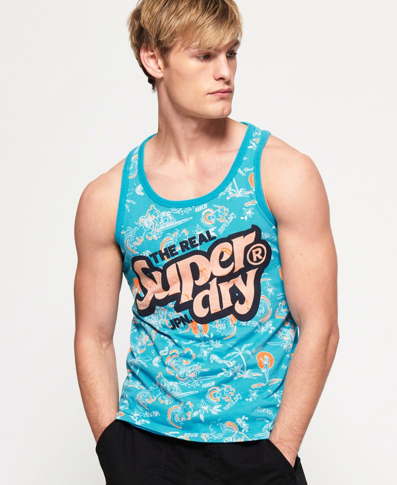 Superdry Real Japan All Over Print Mid Weight Vest thumbnail 1