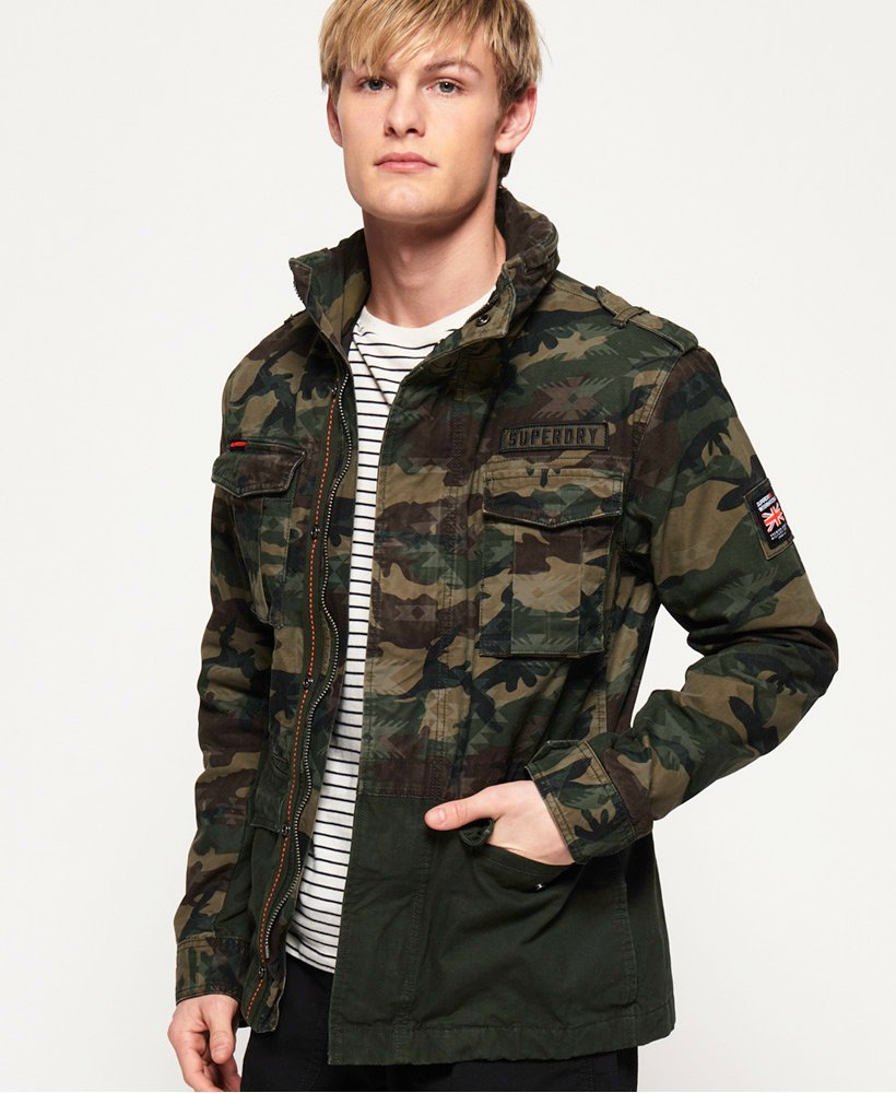 Superdry Mixed Rookie Pocket Jacket thumbnail 1