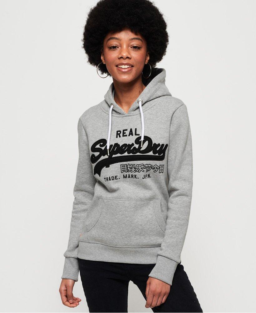 Superdry Sudadera deportiva con capucha, malla, aplicación decorativa y l thumbnail 1
