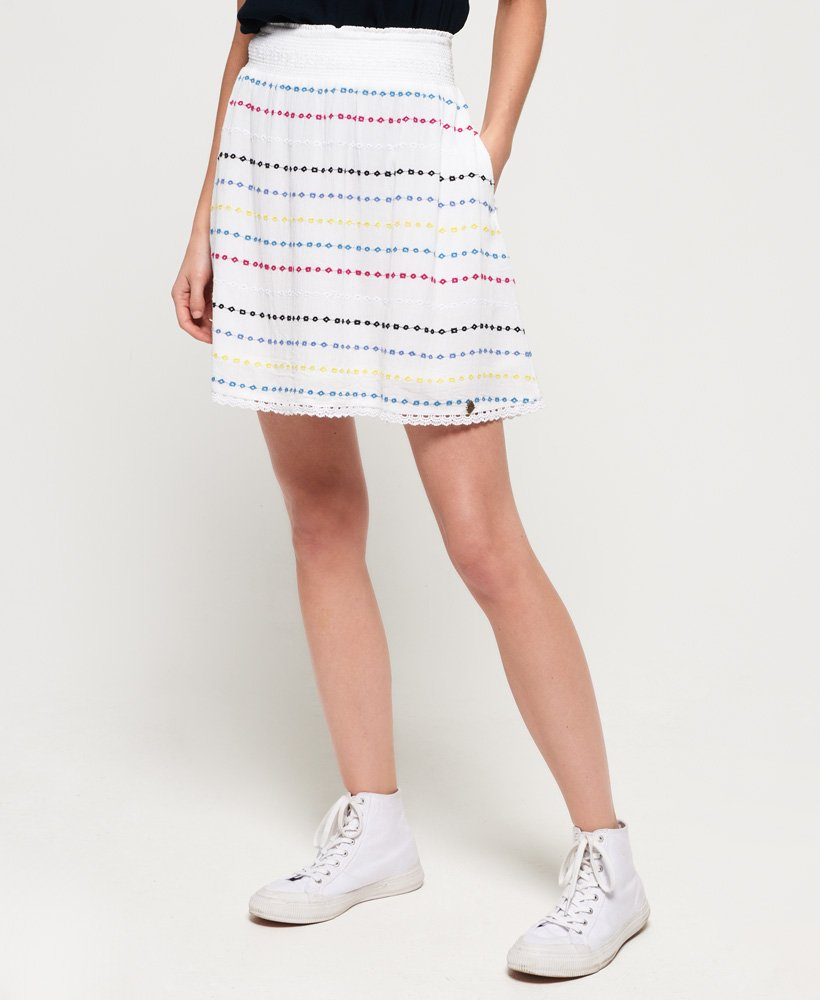 Superdry Sara Smocking Skirt  thumbnail 1