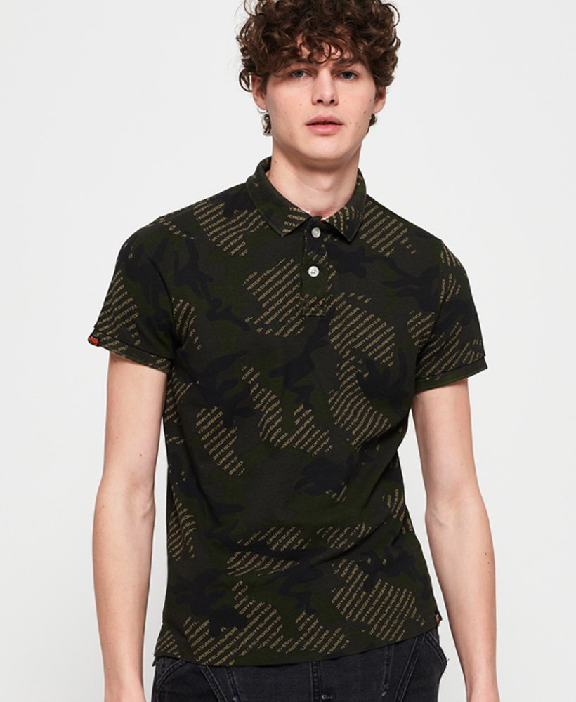 Superdry Tropic Army Polo Shirt thumbnail 1