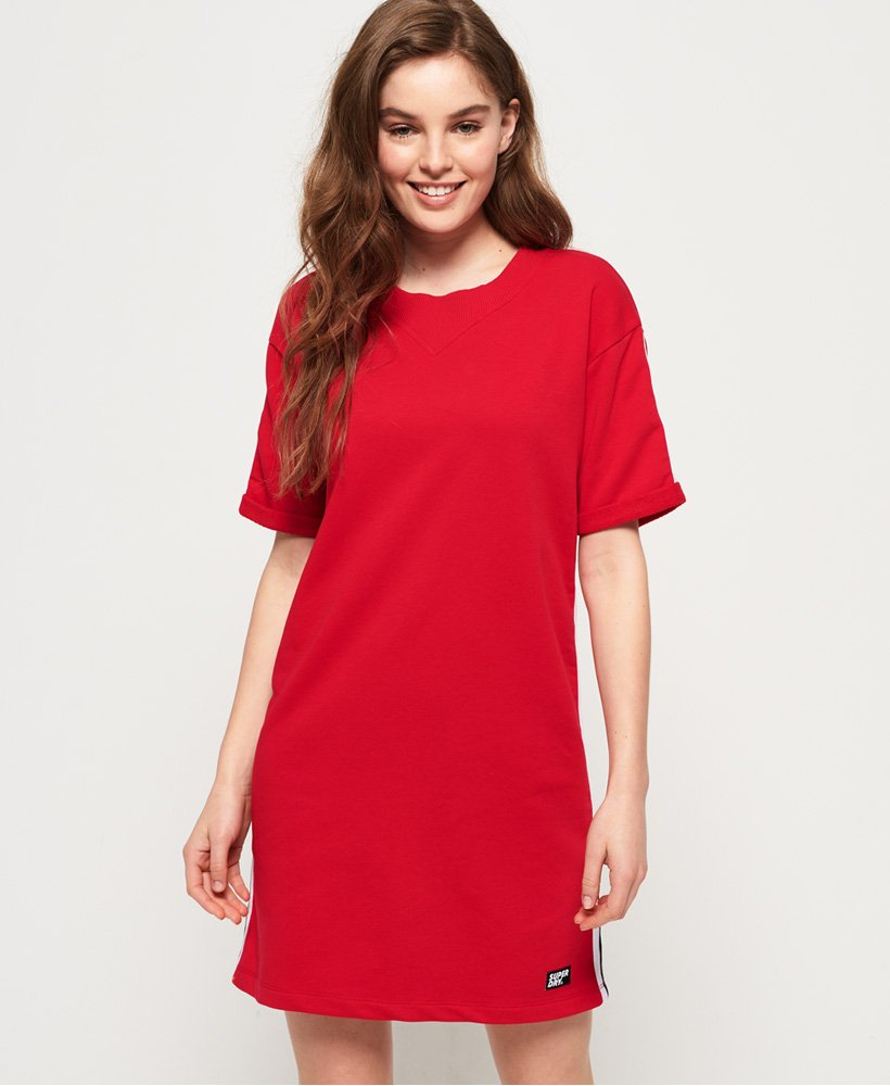 Superdry Georgia Short Sleeve Sweat Dress thumbnail 1