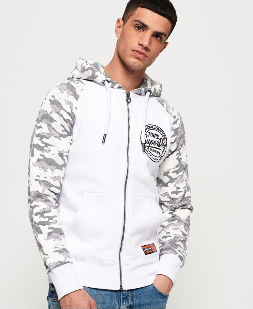 Superdry Ticket Type Monochrome Zip Hoodie thumbnail 1