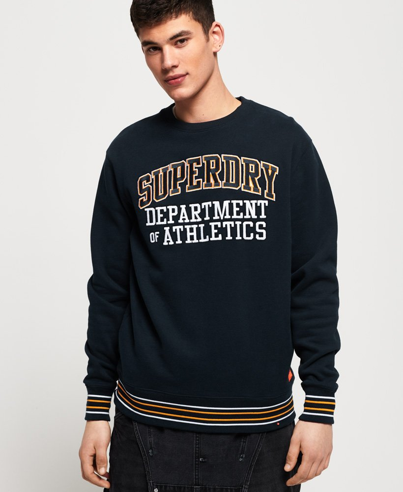 Superdry College Boxy Fit Applique Crew Sweatshirt thumbnail 1