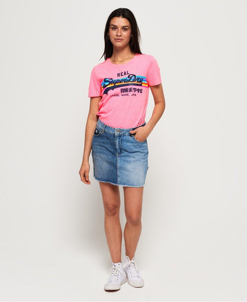 Superdry Vintage Logo Retro Rainbow T skjorte Dame T skjorter