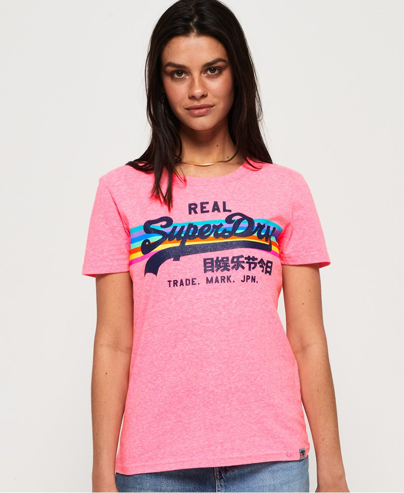 Superdry Vintage Logo Retro Rainbow T-Shirt thumbnail 1