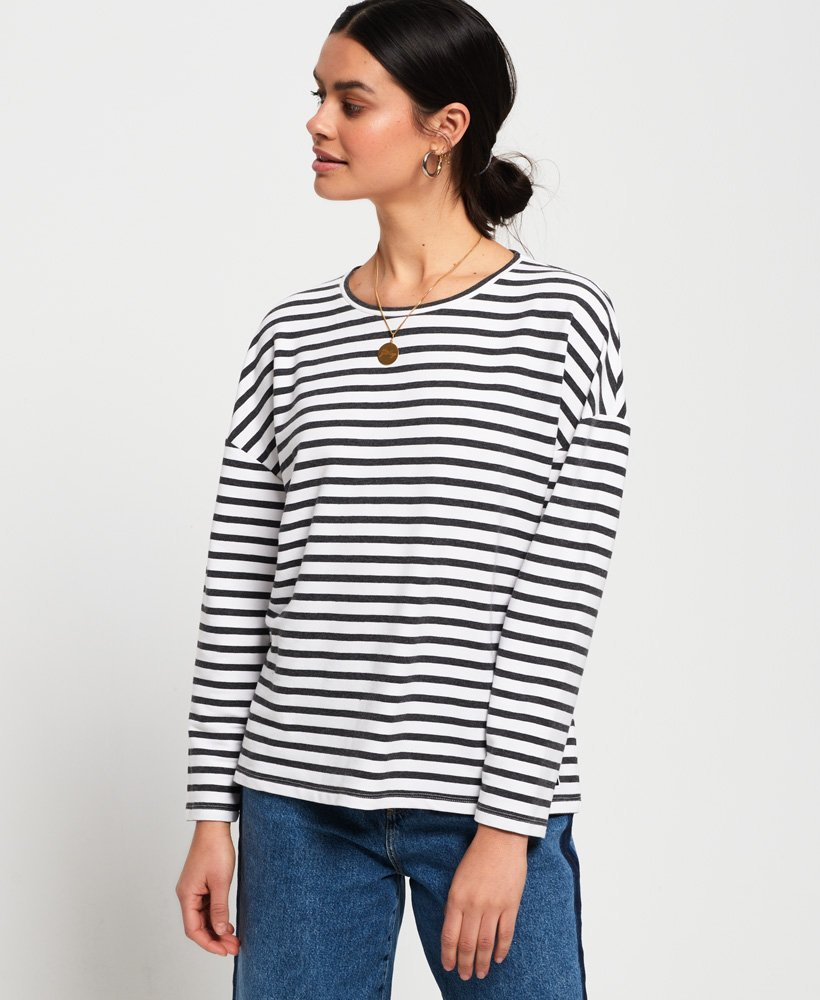 Superdry Ashby Stripe Long Sleeve Top thumbnail 1