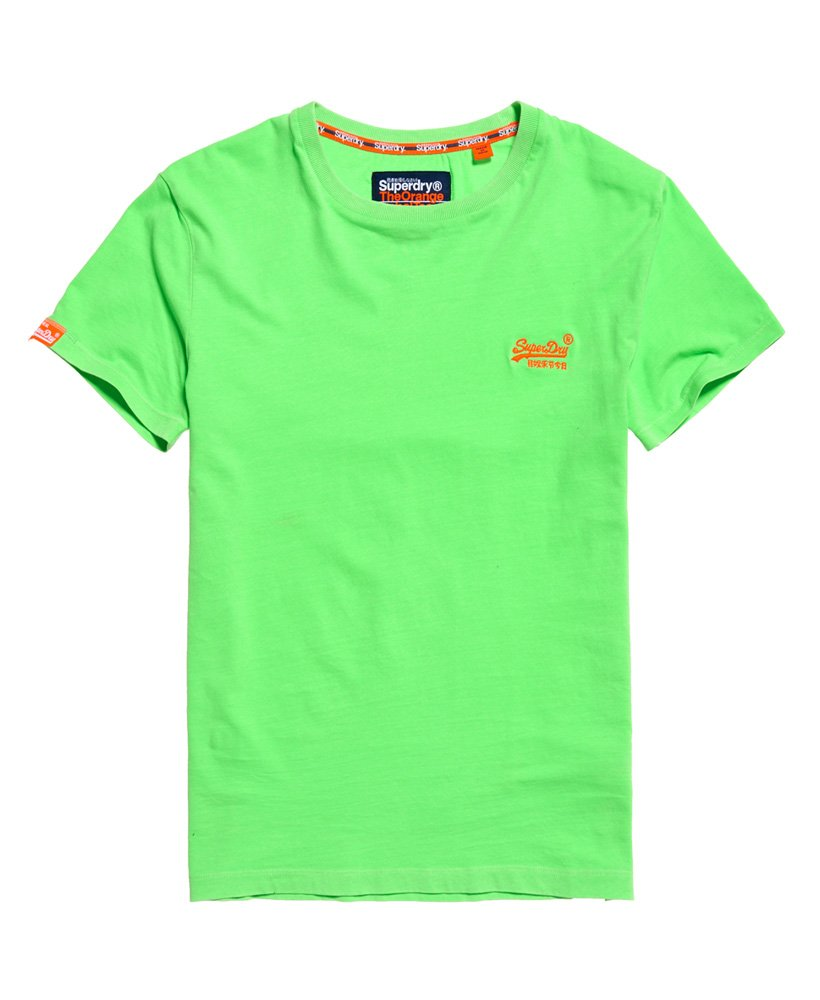 Mens - Orange Label Neon T-Shirt in Ice Green | Superdry