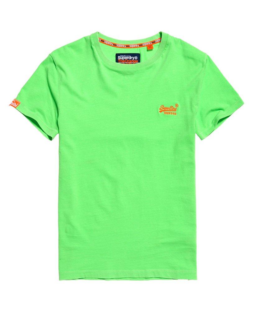 Superdry T-shirt Neon Orange Label