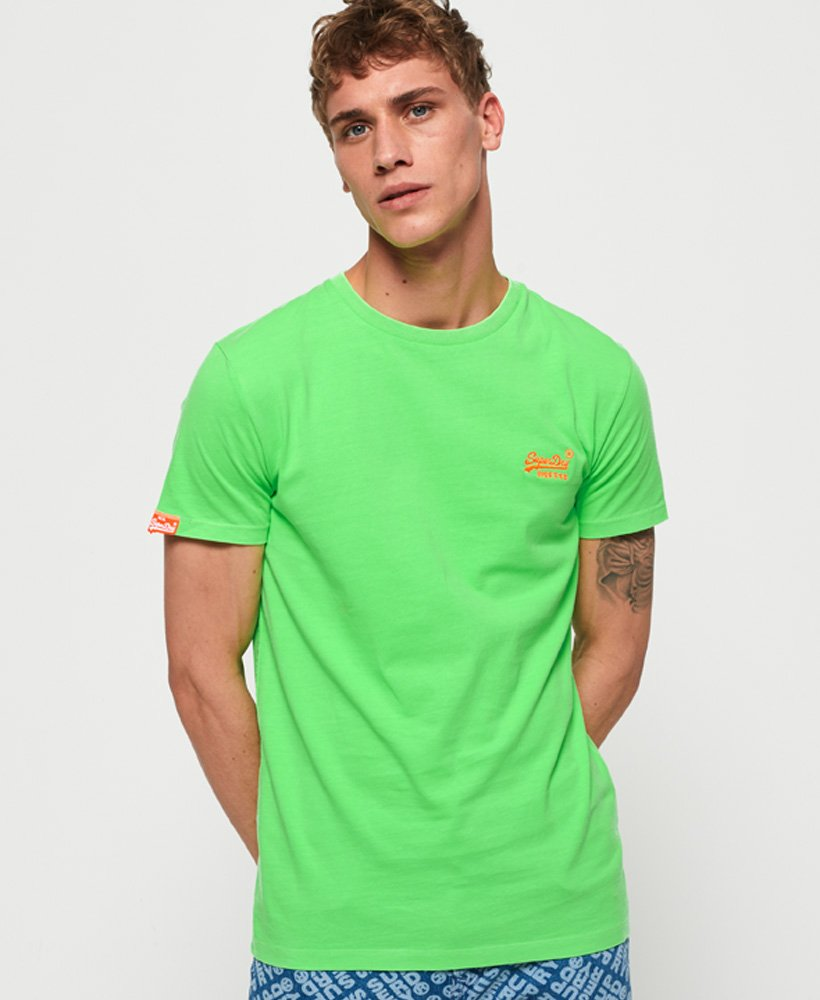Superdry T-shirt fluo Orange Label  thumbnail 1