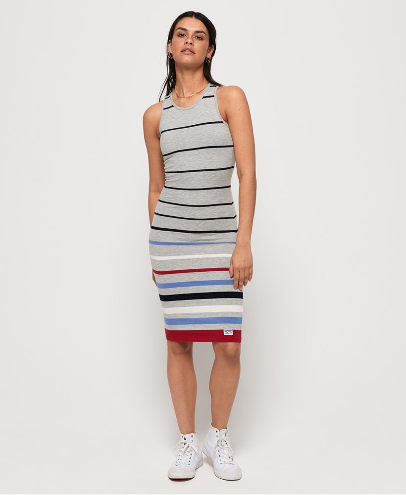 Superdry Stripe Midi Dress thumbnail 1