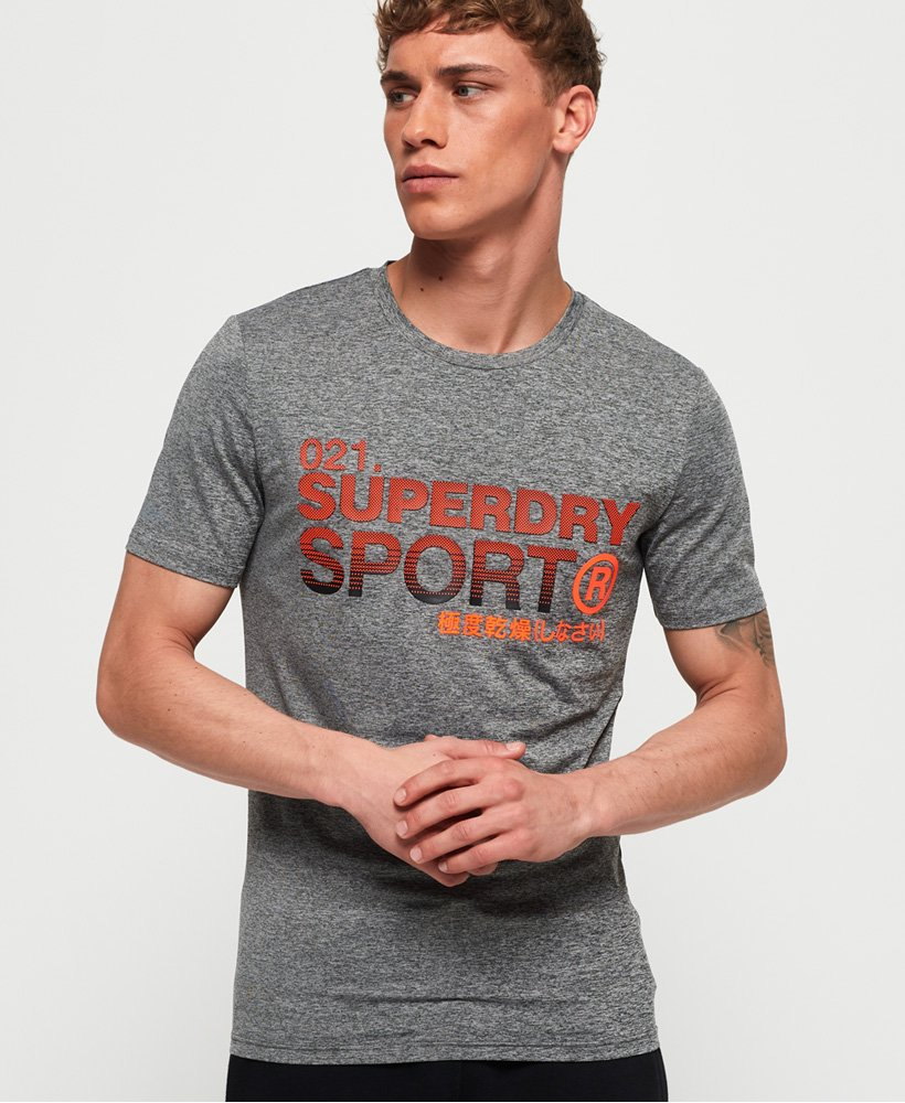 Superdry Active slim T shirt med grafik Herrer T shirts