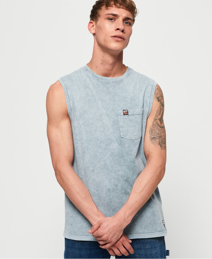Superdry Surplus Goods Pocket Oversized Vest Top thumbnail 1
