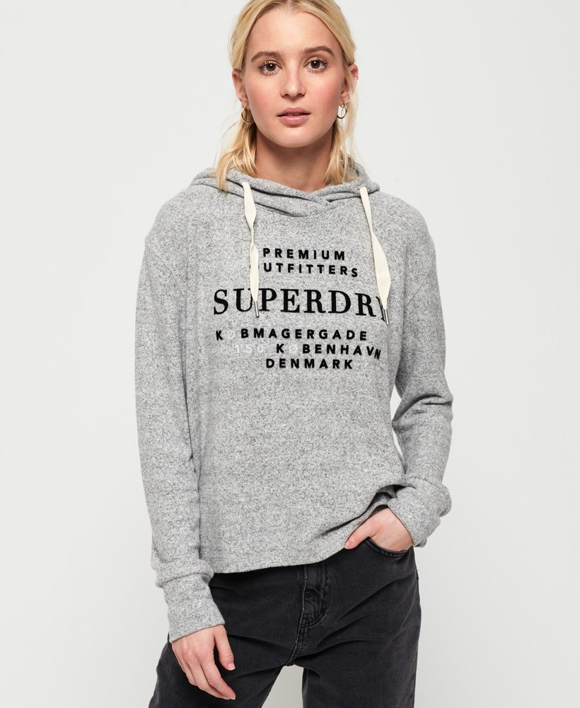 Superdry Super Soft Cropped Hoodie thumbnail 1
