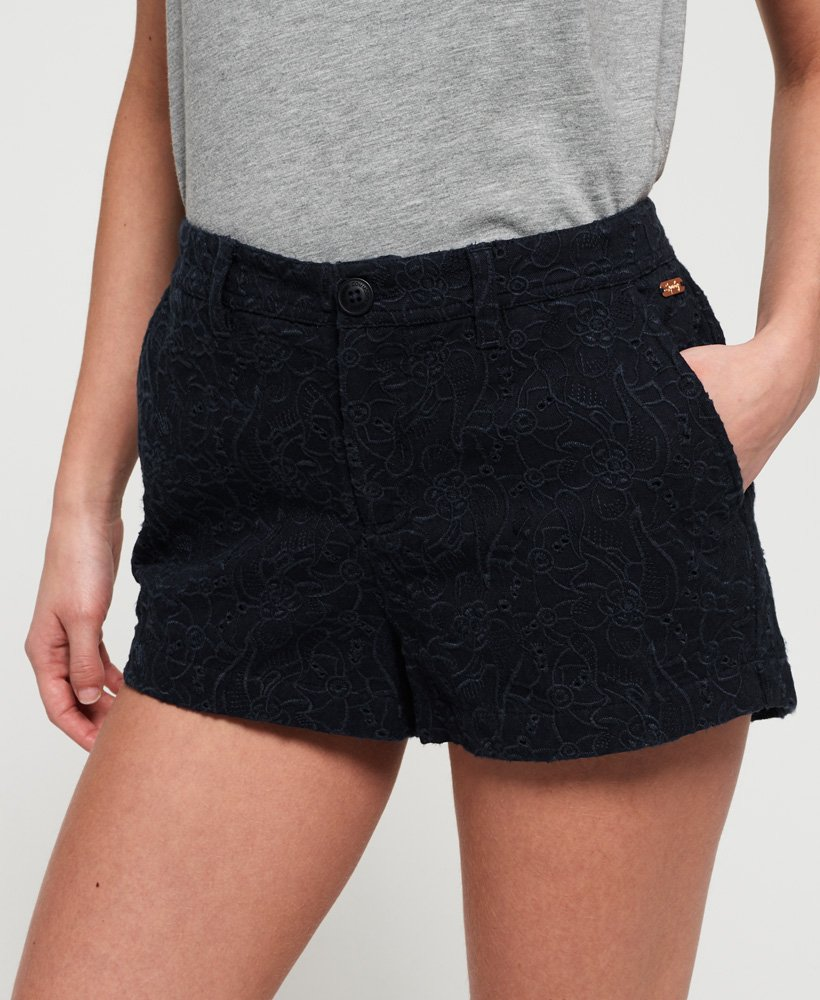Superdry Broderie Chino Shorts thumbnail 1