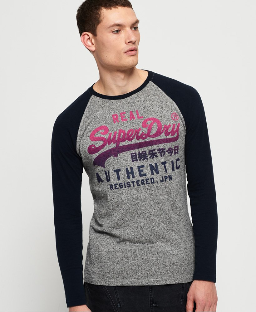 Superdry Vintage Authentic Raglan Long Sleeve T-Shirt thumbnail 1