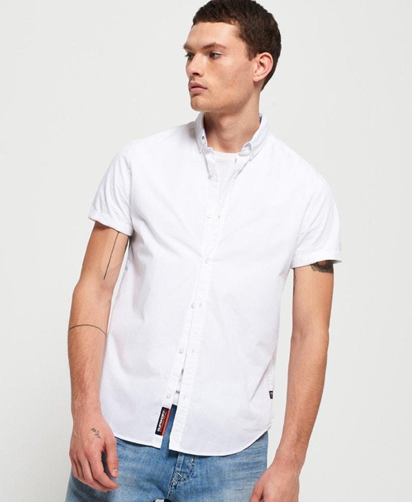 Superdry International Poplin overhemd met korte mouwen thumbnail 1