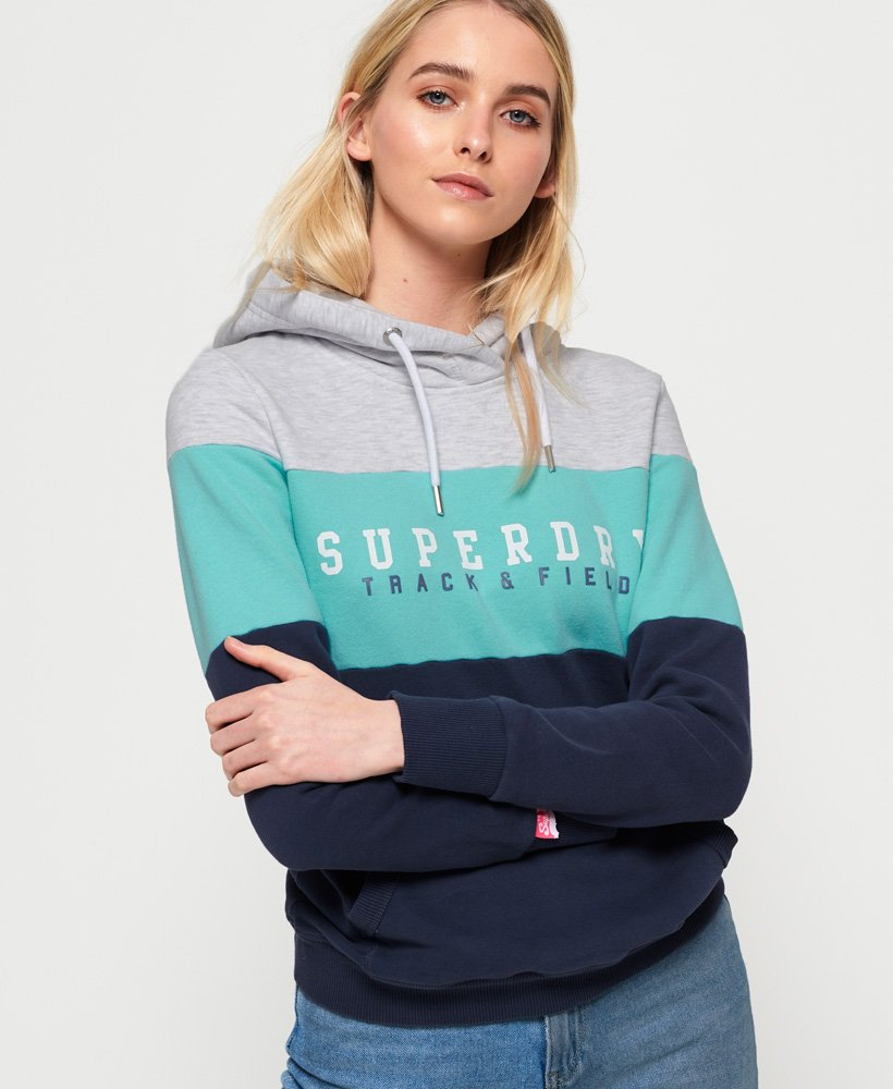 Superdry Track & Field Hoodie mit Farbblock-Design  thumbnail 1