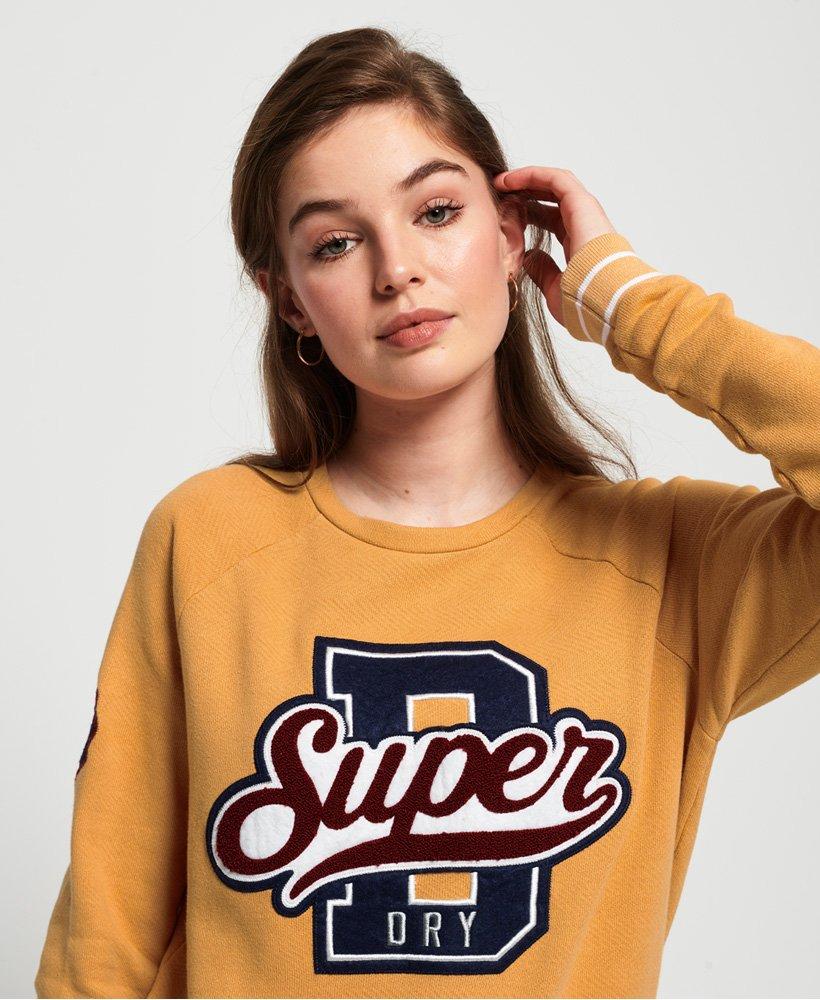 Superdry Damen Hayden Sweatshirt Mit Rundhalsausschnitt