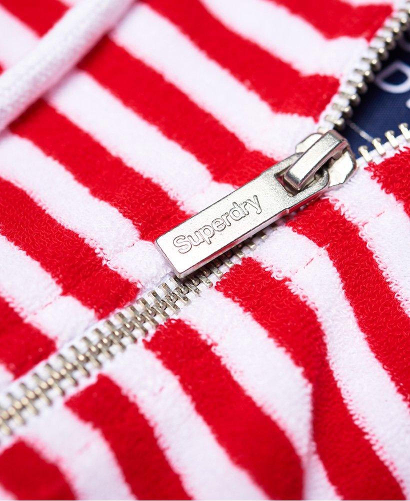Superdry Womens Ebele Stripe Zip Hoodie