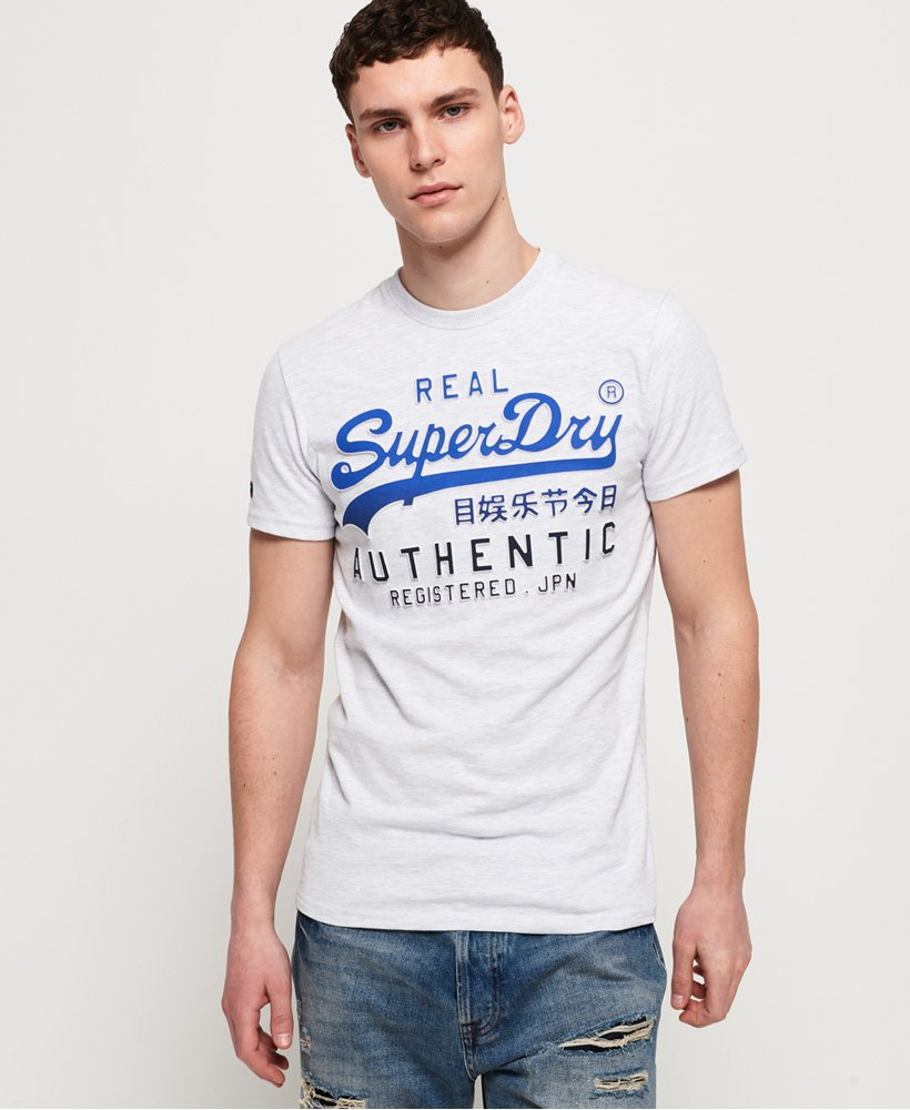 Superdry T-shirt délavé à logo vintage Authentic thumbnail 1
