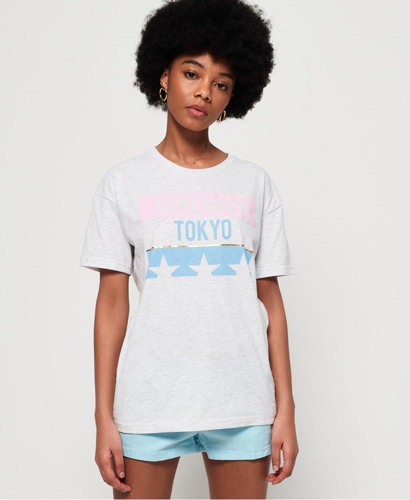 Superdry Tokyo Stars Oversized Portland T-Shirt  thumbnail 1
