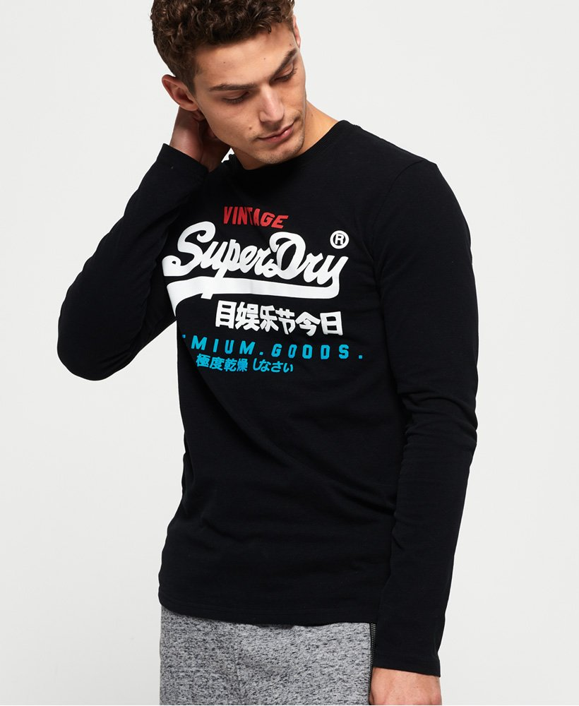 Superdry Tee Shirt Manches Longues Sports Athletic Noir