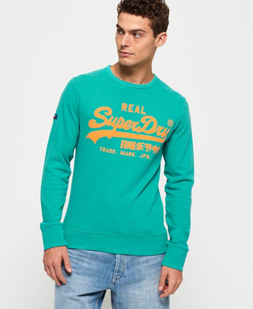 Superdry Leichtes Vintage Logo Sweatshirt in Neonfarben mit Rundhalsaussc thumbnail 1