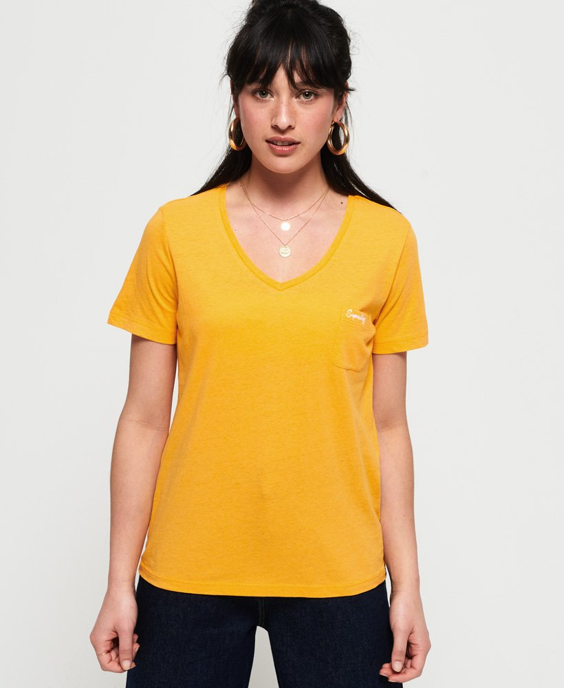 Superdry Orange Label Essential Vee T-Shirt thumbnail 1