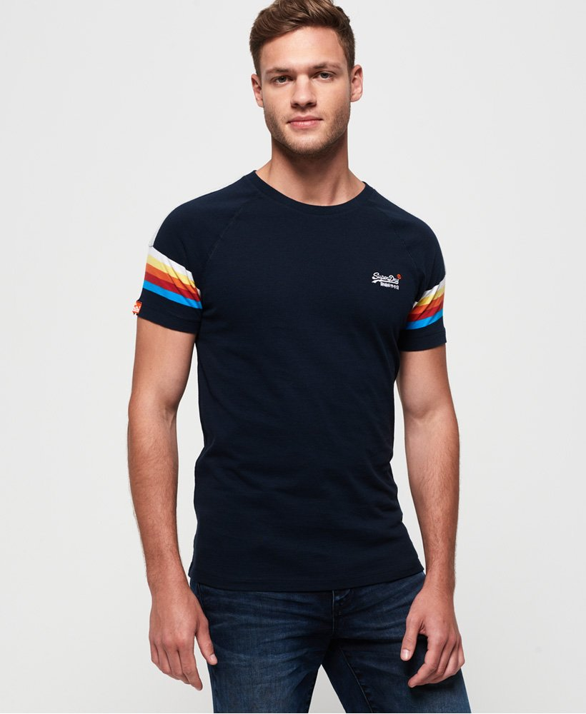 Superdry Orange Label Engineered Stripe T-Shirt thumbnail 1
