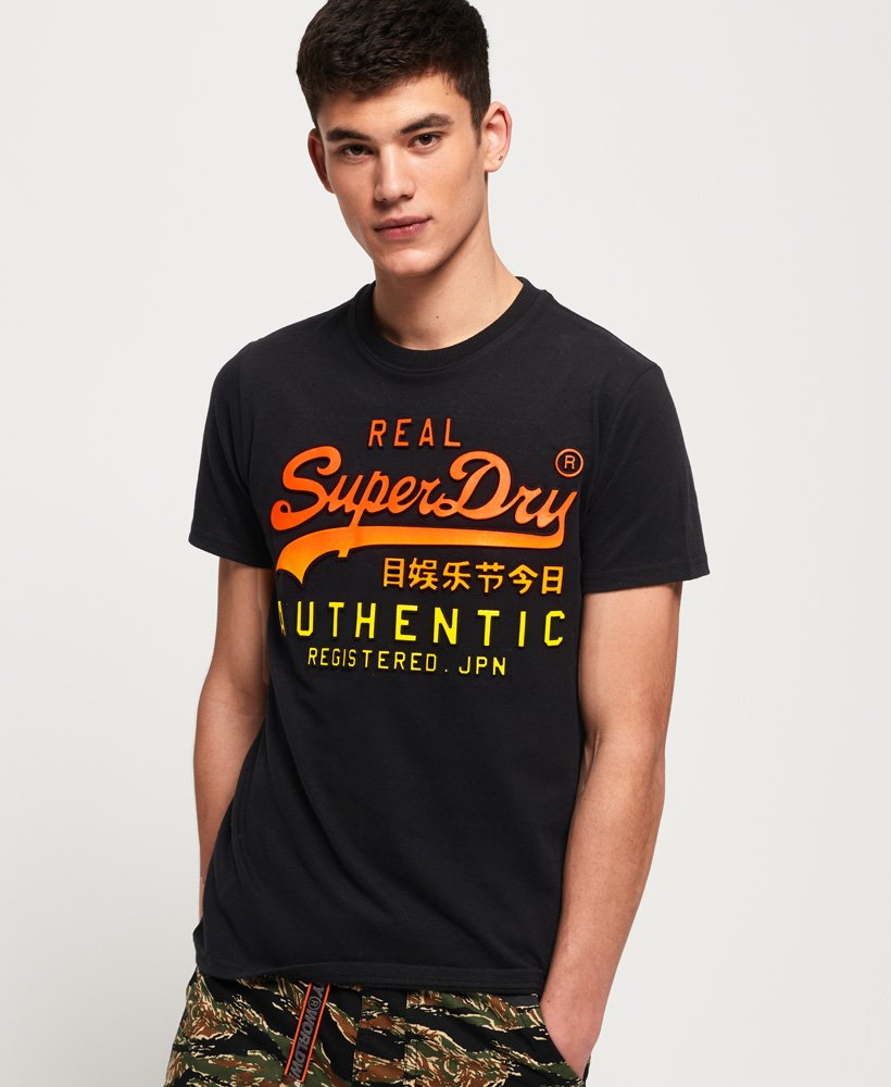 superdry vintage logo authentic fade t shirt herren t shirts. Black Bedroom Furniture Sets. Home Design Ideas