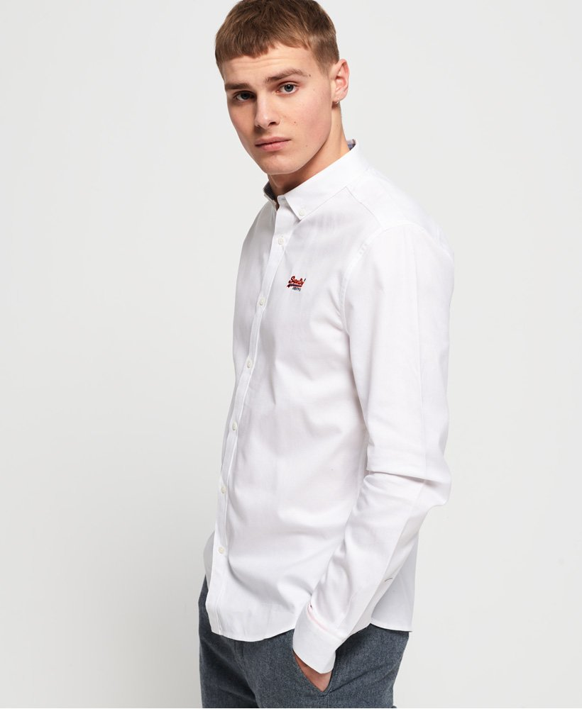 Superdry Premium Button-down-Hemd mit Stickerei thumbnail 1