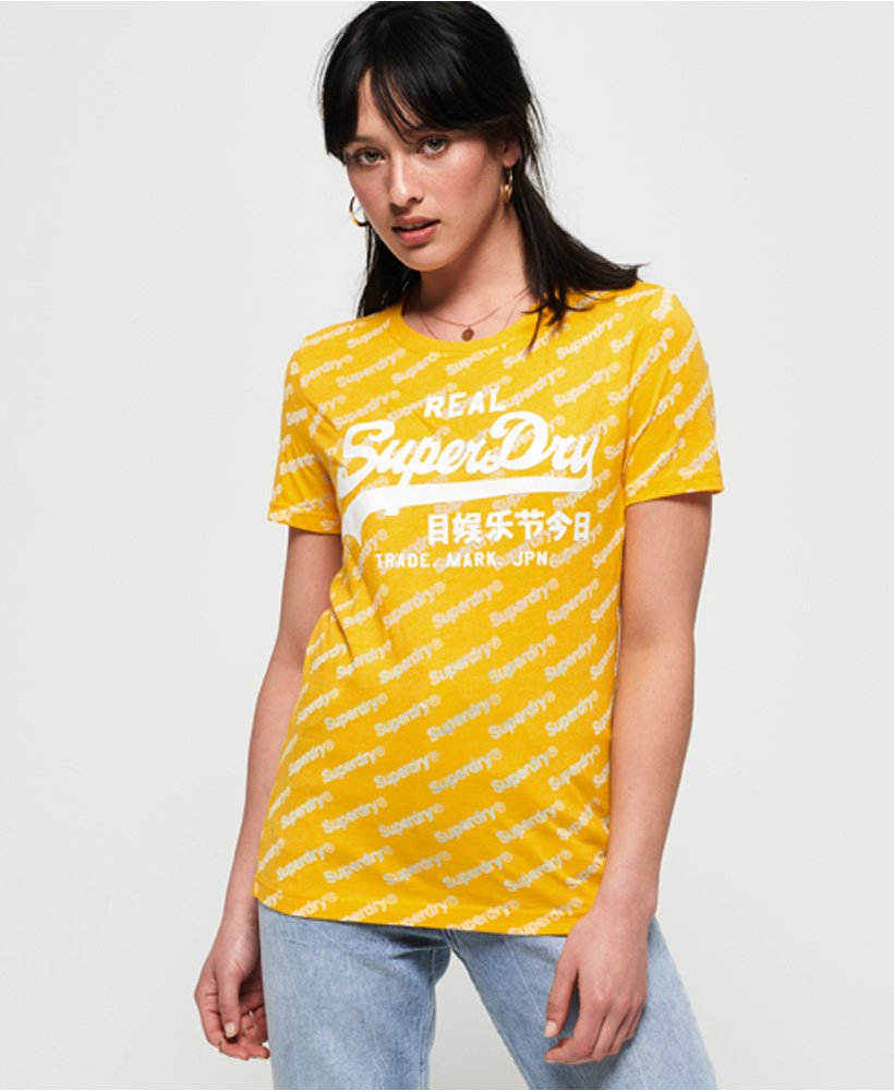 Superdry Vintage Logo Sport All Over Print T-Shirt thumbnail 1